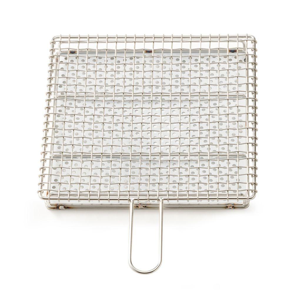 日本金網Tsuji—不鏽鋼烤網組附手把(大)