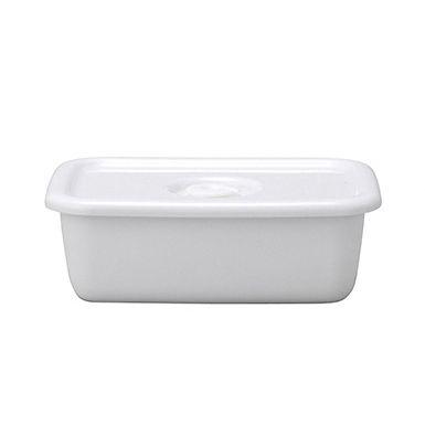 日本野田琺瑯—White Series系列長型密封盒(樹脂蓋.0.62L)