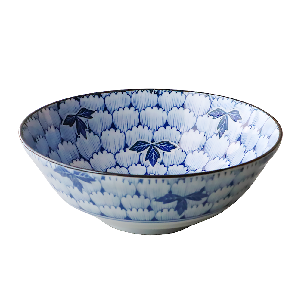 日本AWASAKA美濃燒—碗公(花萬葉)