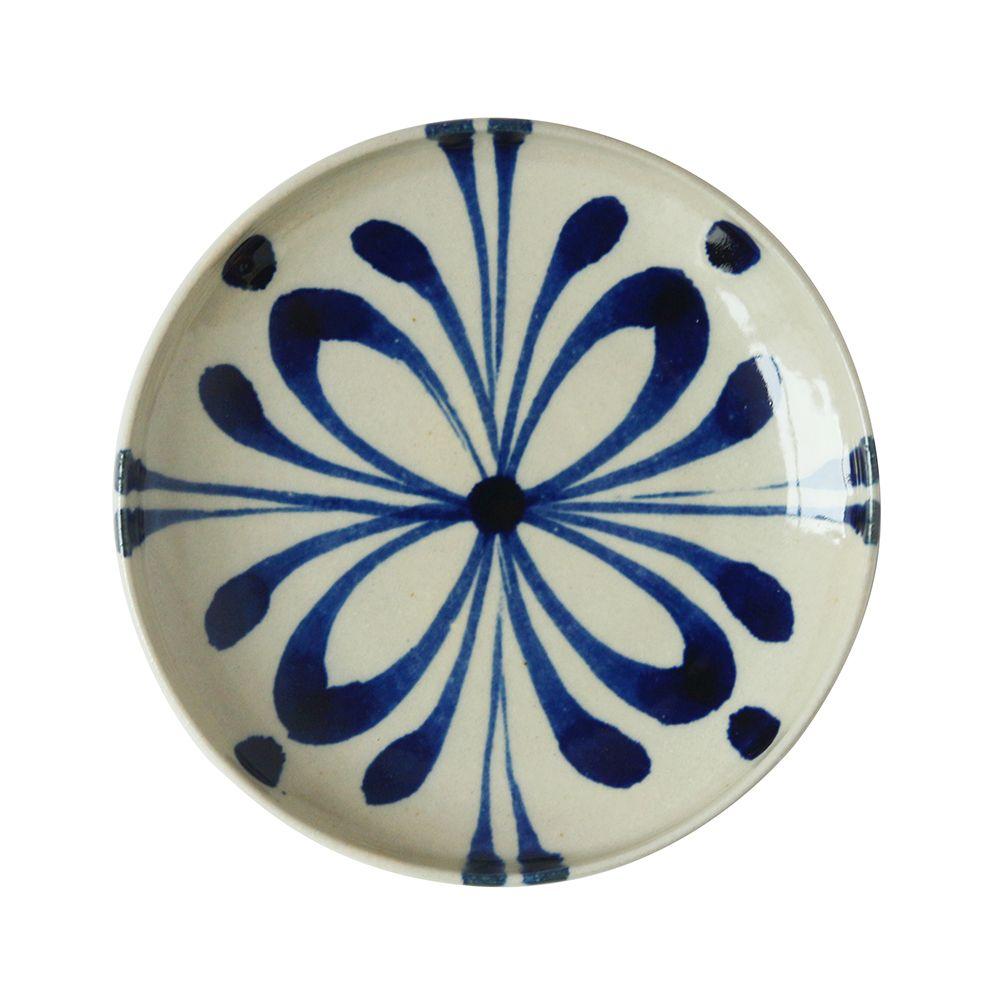 沖繩陶器工房壹—圓盤(蕨草.15cm)