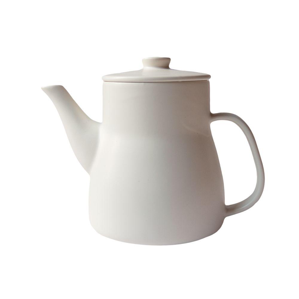 日本 Kamoshika 道具店—陶質茶壺(白)
