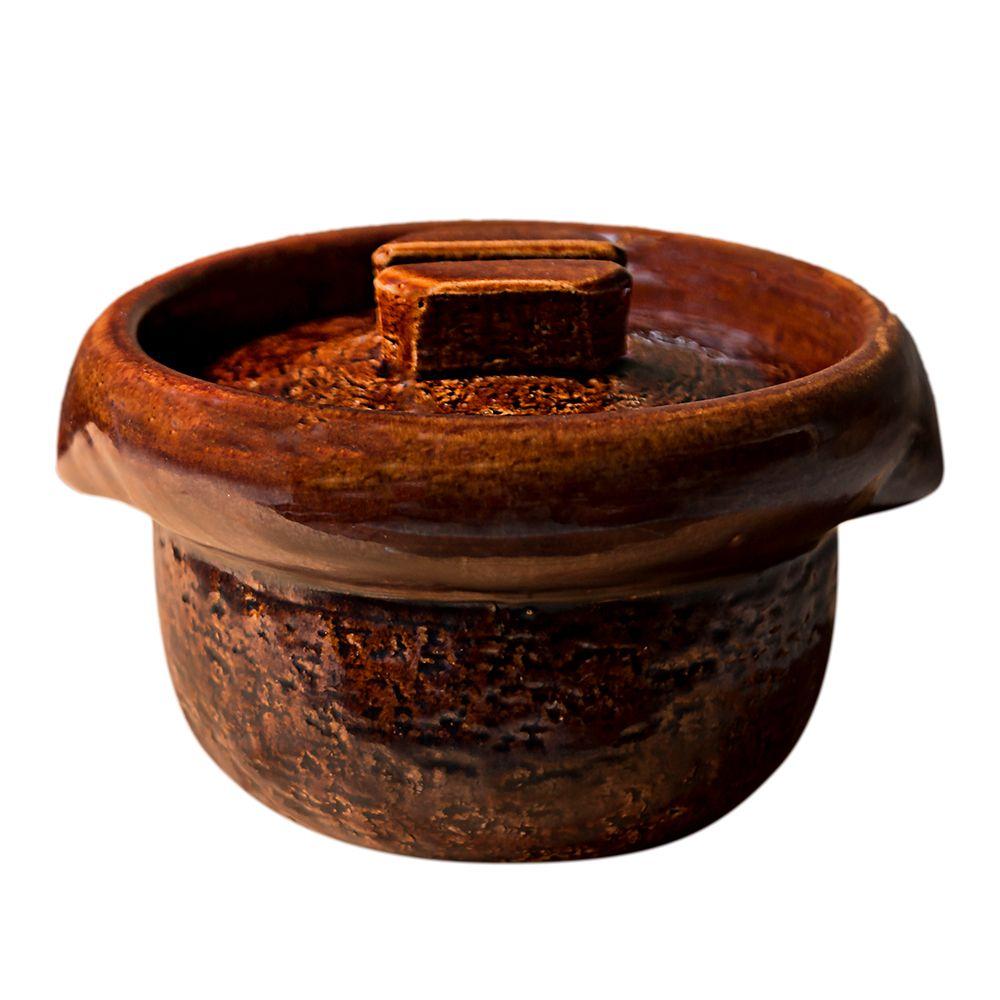 日本雲井窯—飴釉飯鍋(3合)