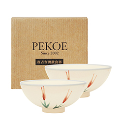 PEKOE飲食器禮盒—復古台灣碗.圓碗二入(金針)