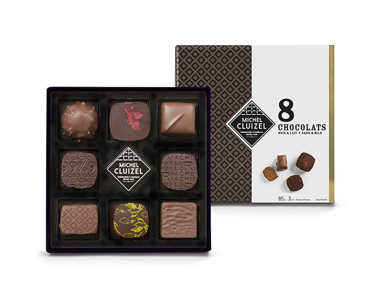 法國Michel Cluizel-Noir & Lait手工巧克力(8顆)