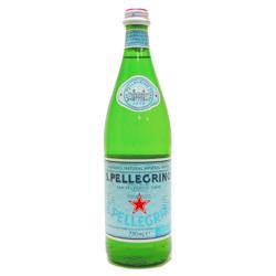 義大利S. PELLEGRINO-天然氣泡礦泉水(750ml,玻璃瓶裝)