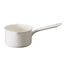 日本月兔印—琺瑯單手牛奶鍋(白.14cm)