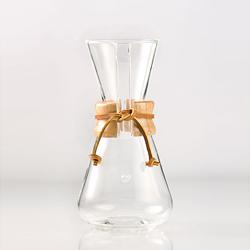 美國Chemex—經典手沖咖啡濾壺(木把.三人份)