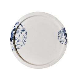日本有田製窯-岡晉吾監製陶瓷平盤(菊唐草)