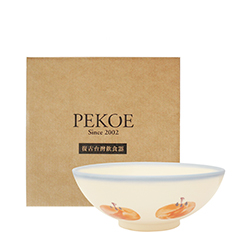 PEKOE飲食器禮盒—復古台灣碗.碗公(紅柿)