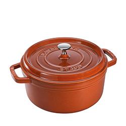 法國Staub-圓形鑄鐵鍋(肉桂棕.直徑20cm)