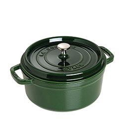 法國Staub-圓形鑄鐵鍋(羅勒綠.直徑20cm)