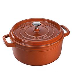法國Staub-圓形鑄鐵鍋(肉桂棕.直徑22cm)