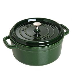法國Staub-圓形鑄鐵鍋(羅勒綠.直徑22cm)