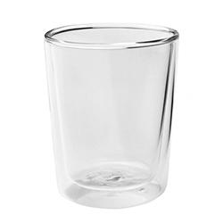 台灣紅琉璃-雙層玻璃杯(圓直,300ml)