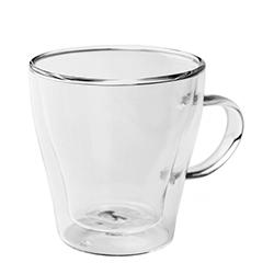 台灣紅琉璃-雙層玻璃杯(有耳,250ml)