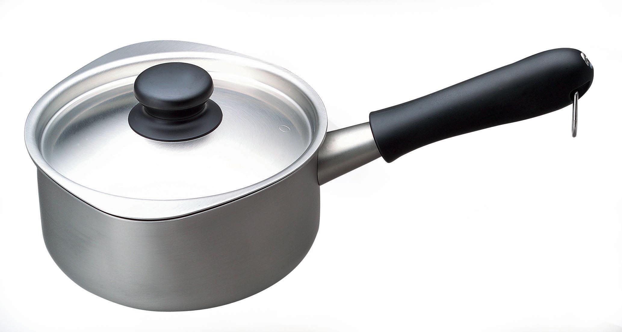 日本柳宗理—不銹鋼單手鍋(霧面•直徑16cm•附不銹鋼蓋)