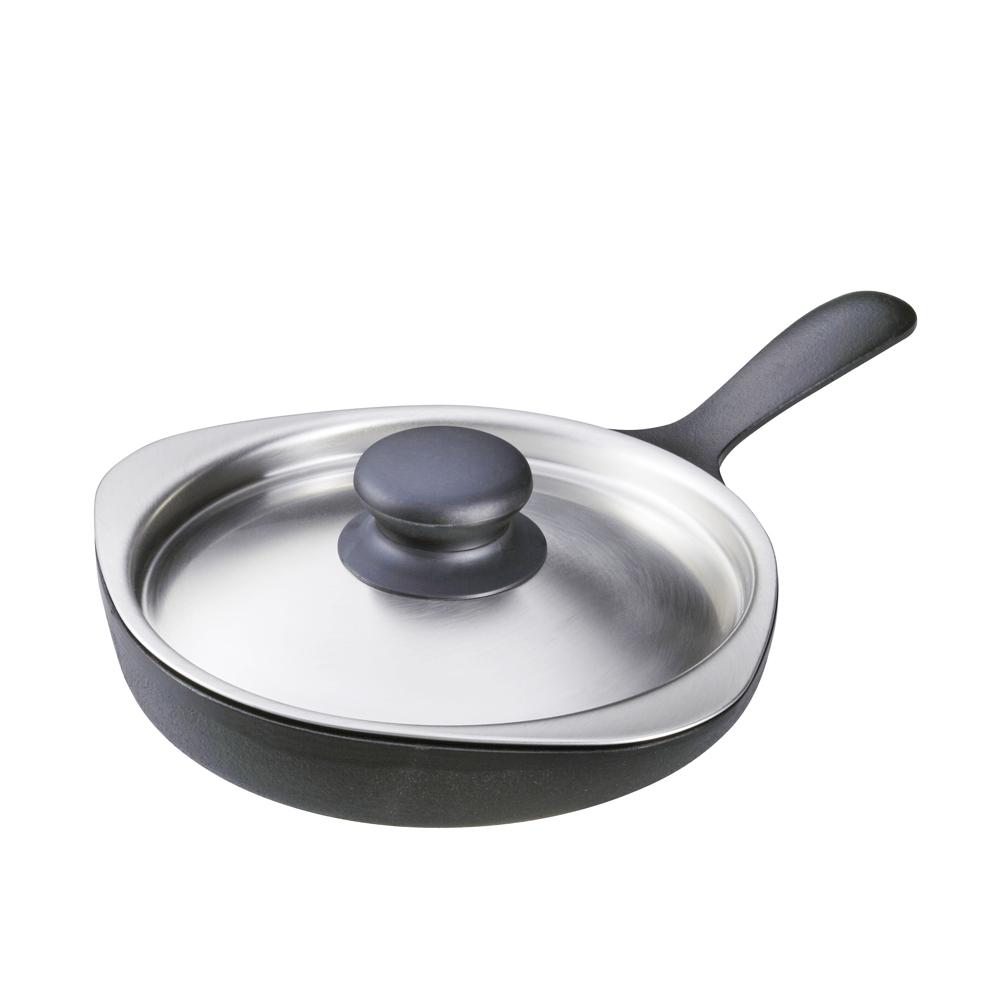 日本柳宗理—南部鐵器迷你煎盤(附不銹鋼蓋)