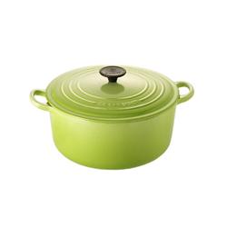 LE CREUSET-圓形鑄鐵鍋(奇異果綠.直徑18cm)