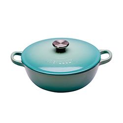 LE CREUSET—媽咪鑄鐵鍋(薄荷綠.直徑18cm)