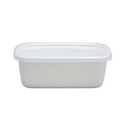 日本野田琺瑯—White Series系列長型保存盒(0.85L)