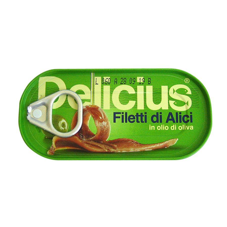義大利Delicius—油漬鯷魚罐頭