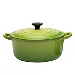LE CREUSET-圓形鑄鐵鍋(棕櫚綠.直徑20cm)