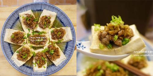 榨菜肉絲蒸豆腐