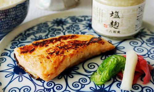香煎鹽麴鮭魚